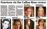 Fourteen vie for Callan Rose crown