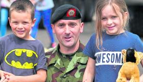 Soldiers on show for Open Family Day at Kilkenny Barracks