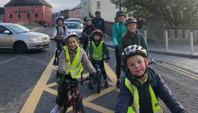 Pictures: Kilkenny school breaks the 'Céad Rothair' mark to end month of rothaíocht