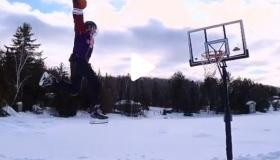 WATCH: The craziest basketball dunk you will EVER see!