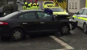 VIDEO: Emergency services attend scene of another collision at Goresbridge junction