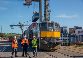 New rail freight service launched between Belview in South Kilkenny and Ballina