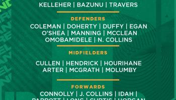 Ireland soccer squad named for World Cup qualifiers