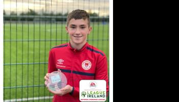 Brian Moore claims underage player of the month award for September