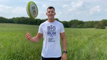 Former Kilkenny College student helps launch big rugby run to raise funds for mental health programmes