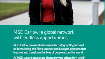 MSD Carlow are hiring for exciting roles in an innovative company