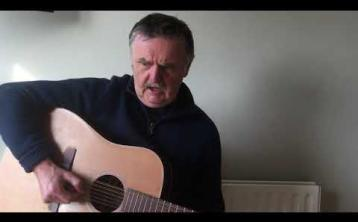Kilkenny musician and songwriter, Mick Citern Walsh singing his new song,  a rallying call against the coronavirus