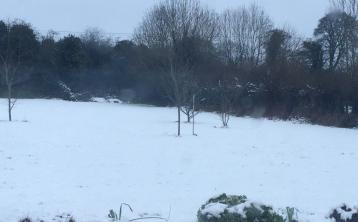 Snow just outside Clogh village this morning