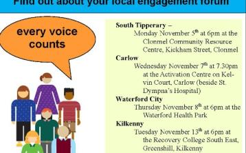 Forum for mental health services to be held in Kilkenny