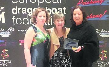 Kilkenny's Nore Dragon Paddlers win European award