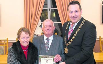 Sound man Joe honoured by Kilkenny Mayor Peter