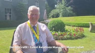 WATCH: Mount Juliet's Des McGrath shares his Kilkenny Irish Open memories
