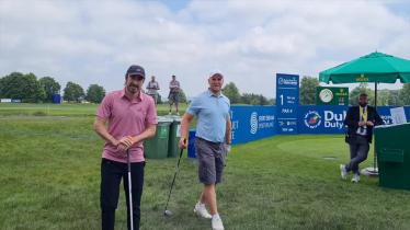 WATCH: Irish celebrities and local golf captains and enjoying the Pro Am in Kilkenny