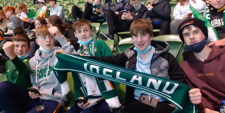 Gallery: Kilkenny secondary school students support the boys in green