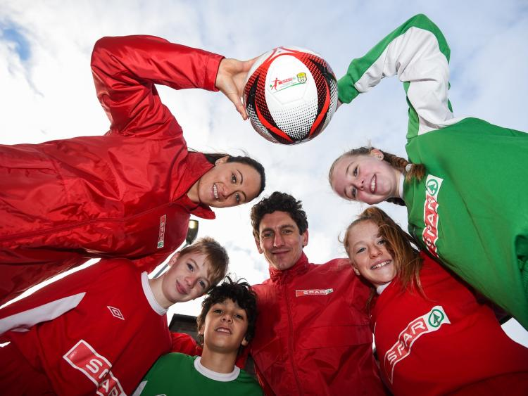 317d81e4 Picture at the launch of the SPAR FAI Primary School 5s Programme were  former Republic of Ireland international Keith Andrews and current Women's  ...