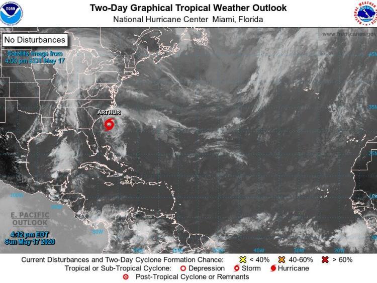 Tropical Storm Drenches North Carolina's Coast