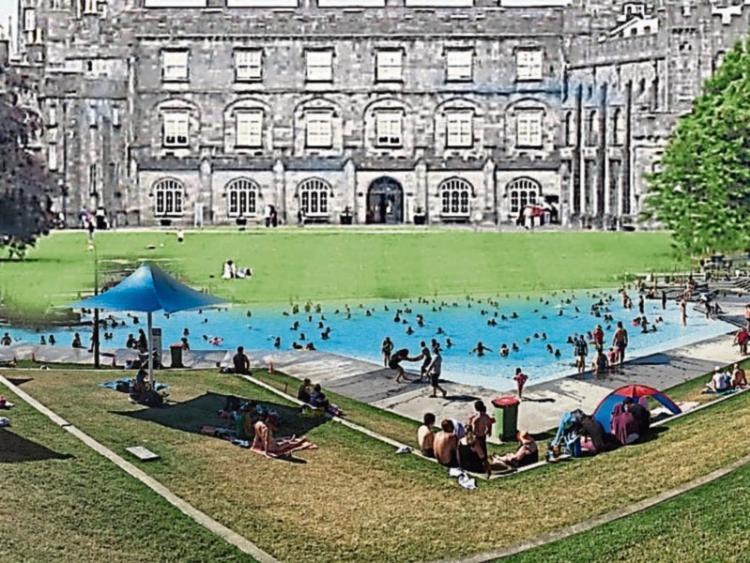 Plan To Place Swimming Pool Bowling Green And Tennis Courts In Kilkenny Castle Park From 1964